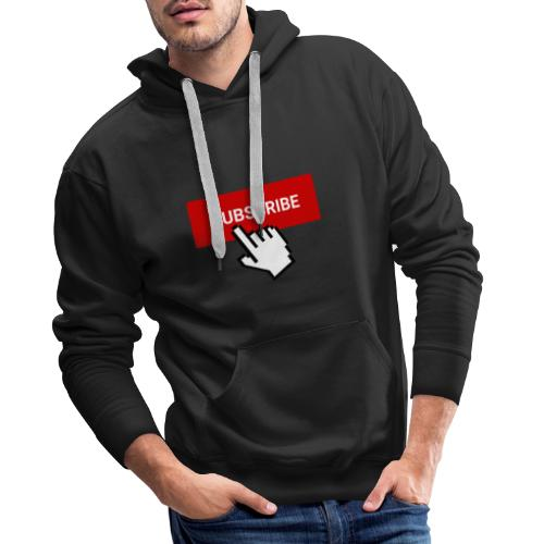 YouTube subscribe button with cursor (2) - Men's Premium Hoodie