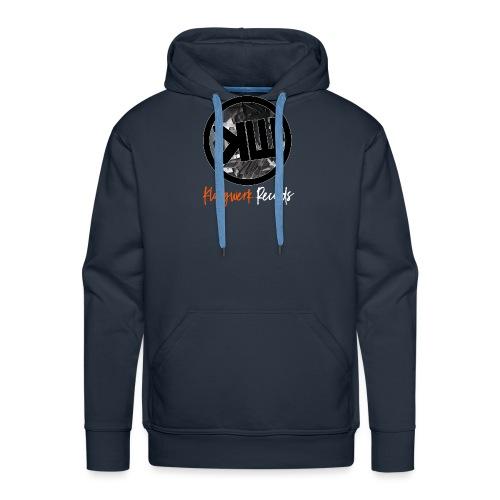 white logo tshirt - Men's Premium Hoodie