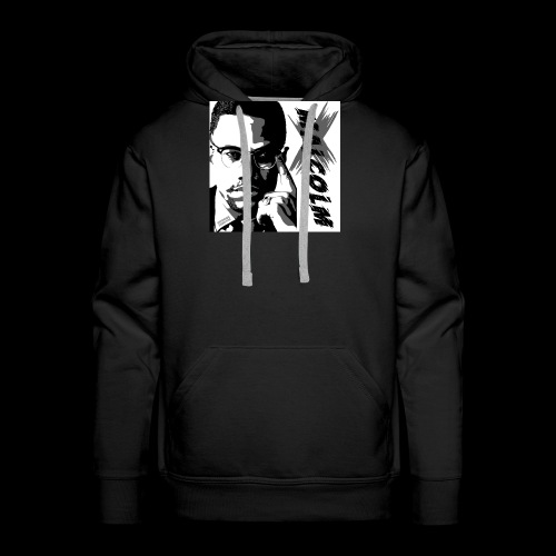 Malcom X Black and White - Männer Premium Hoodie