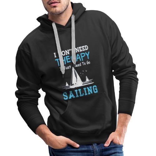theraphy sailboat - Felpa con cappuccio premium da uomo