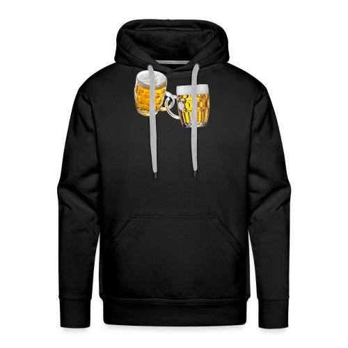 Boccali di birra - Felpa con cappuccio premium da uomo