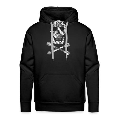 Tête de mort mots blanc - Sweat-shirt à capuche Premium pour hommes