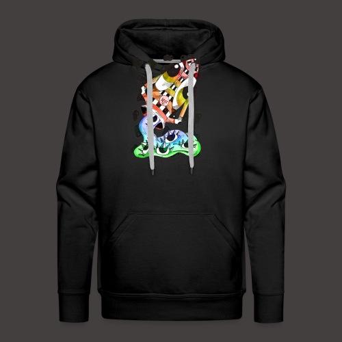 Verseau multi-color - Sweat-shirt à capuche Premium pour hommes
