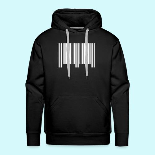 barcode - weiss - Männer Premium Hoodie