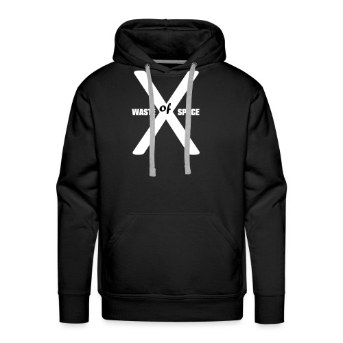 Waste of Space Logo black and white - Premium hettegenser for menn