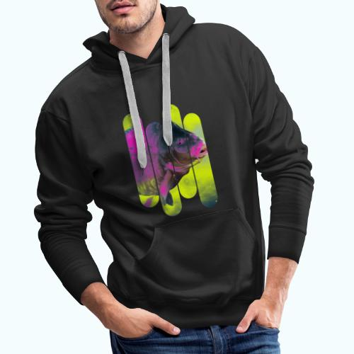 Neon colors fish - Men's Premium Hoodie