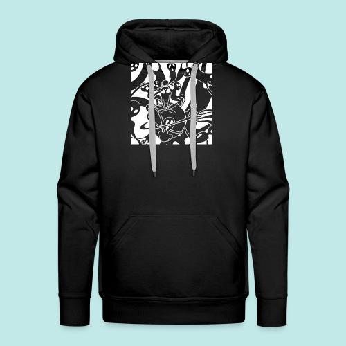 Personnage cauchemar fantômes esprits blanc - Sweat-shirt à capuche Premium pour hommes