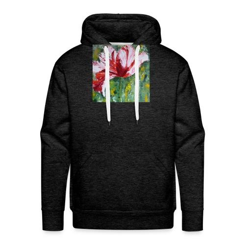 tulp met pallet mes - Mannen Premium hoodie