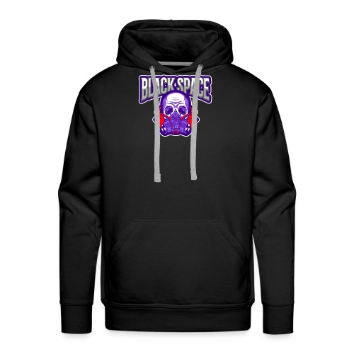 gaming logo maker featuring a skull with a gas mas - Sweat-shirt à capuche Premium pour hommes