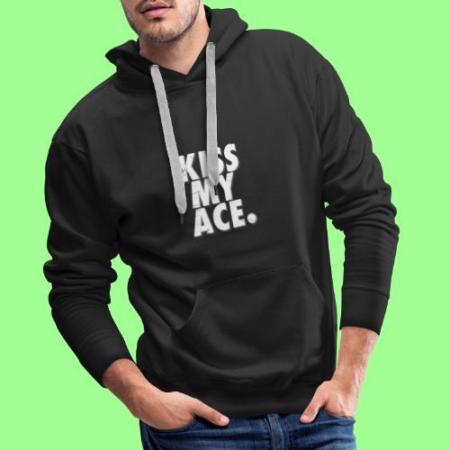 KISS MY ACE - Bluza męska Premium z kapturem