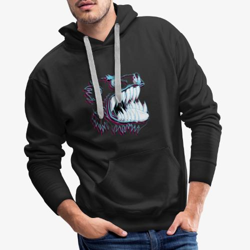 monster neon - Sweat-shirt à capuche Premium pour hommes