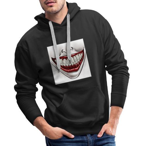 Smile Maske - Männer Premium Hoodie