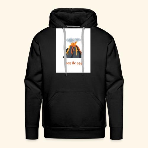 Volcan mon île 974 - Sweat-shirt à capuche Premium pour hommes