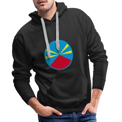 Drapeau 974 - Sweat-shirt à capuche Premium pour hommes