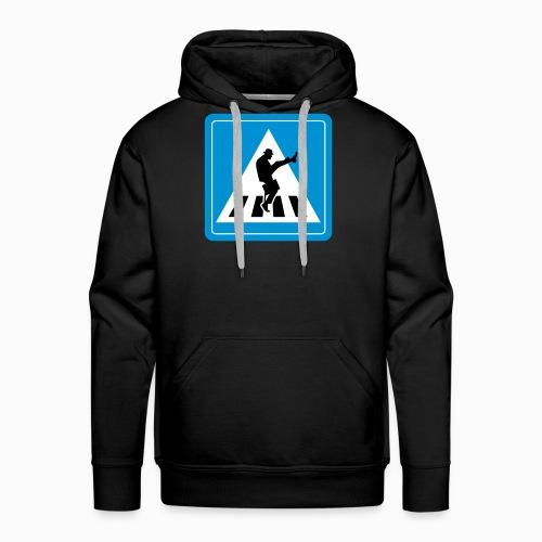 Silly walk zebrapad verkeersbord Zierikzee Zeeland - Mannen Premium hoodie