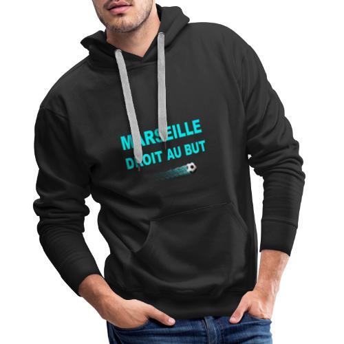 MARSEILLE DROIT AU BUT - Sweat-shirt à capuche Premium pour hommes