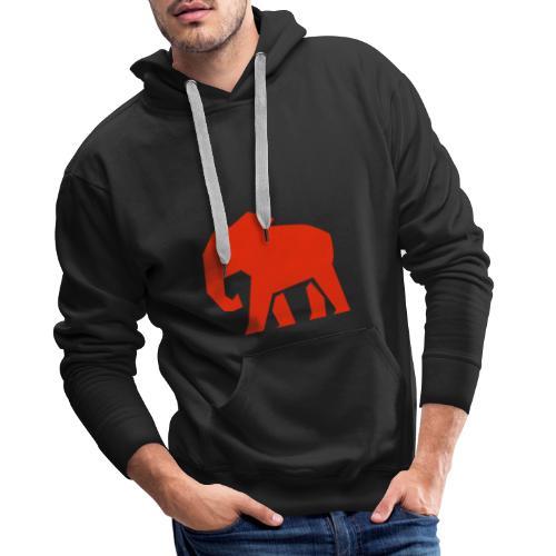 Roter Elefant - Männer Premium Hoodie