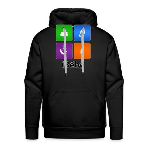 iBébé - Sweat-shirt à capuche Premium pour hommes