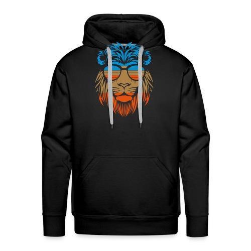 Retro Lion Sunglass - Männer Premium Hoodie