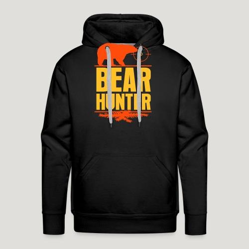Jäger Shirt Bären Jäger - Bear Hunter Jagd Wild - Männer Premium Hoodie