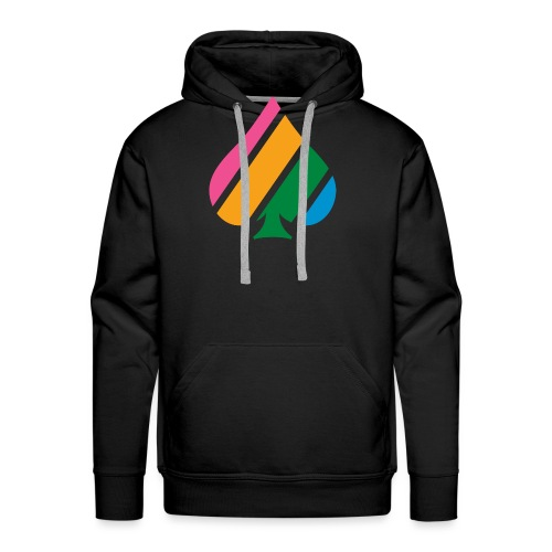 Colored Stripes Logo - Men's Premium Hoodie
