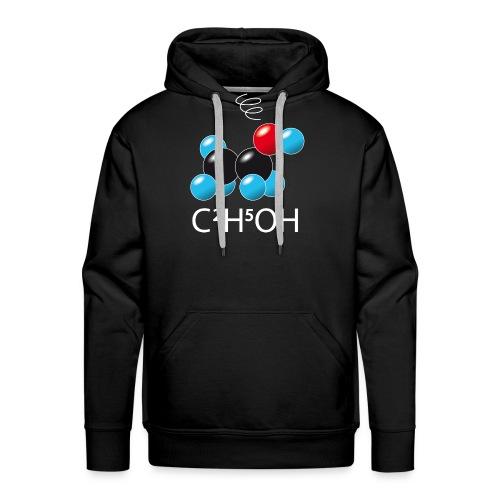 c2h5oh (sur Tshirts foncés) - Sweat-shirt à capuche Premium pour hommes
