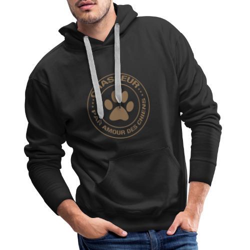 Chasseur par amour des chiens - Sweat-shirt à capuche Premium pour hommes