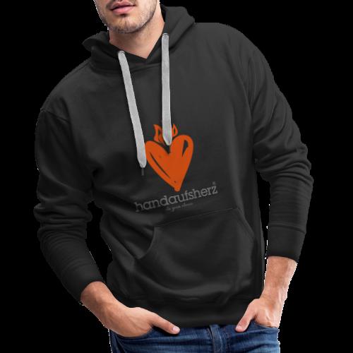 Hand aufs Herz - Männer Premium Hoodie