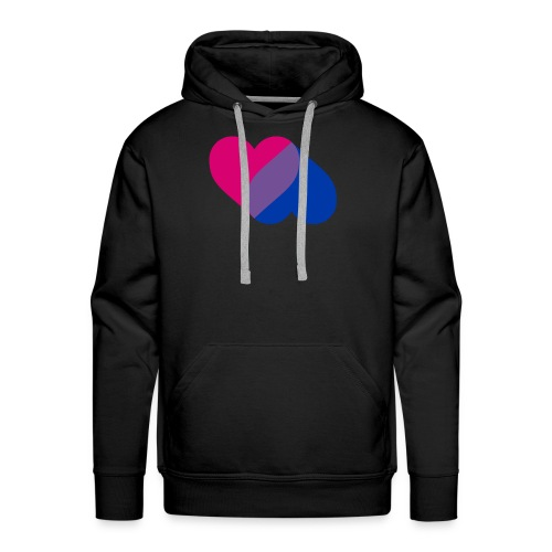 Bisexual Double Heart - Men's Premium Hoodie