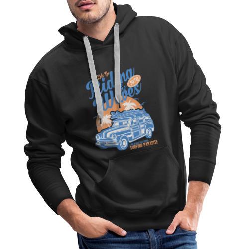 Ladies Surf Style T-shirt - Riding the Waves - Men's Premium Hoodie