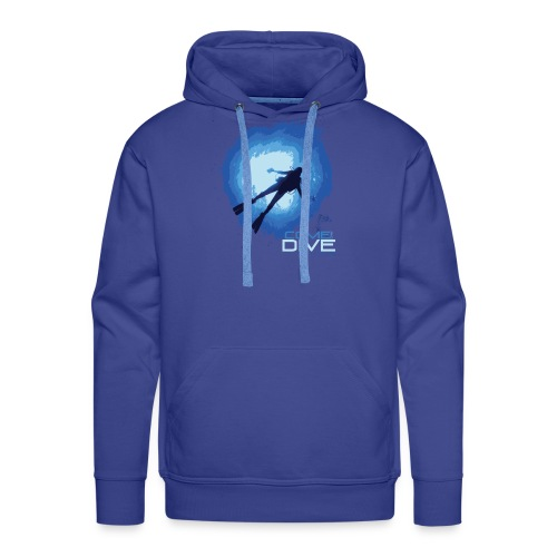 Come and dive with me - Bluza męska Premium z kapturem