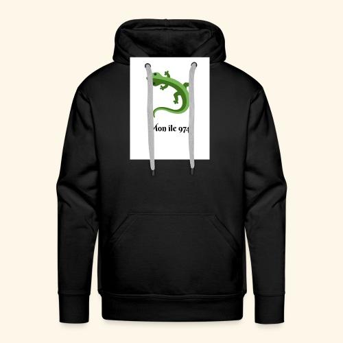 Margouillat mon île 974 - Sweat-shirt à capuche Premium pour hommes