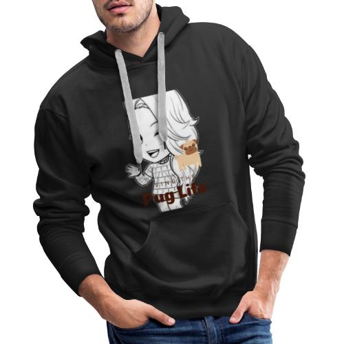 Miss Lopez Pug Life - Sudadera con capucha premium para hombre