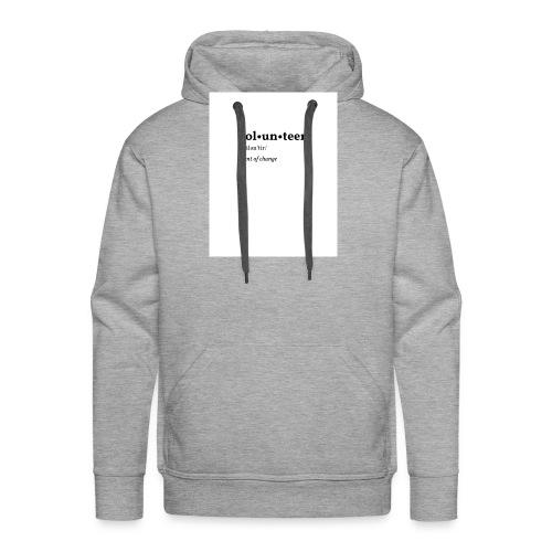 Volontaire - Sweat-shirt à capuche Premium pour hommes