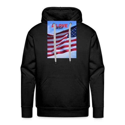a love usa - Sweat-shirt à capuche Premium pour hommes