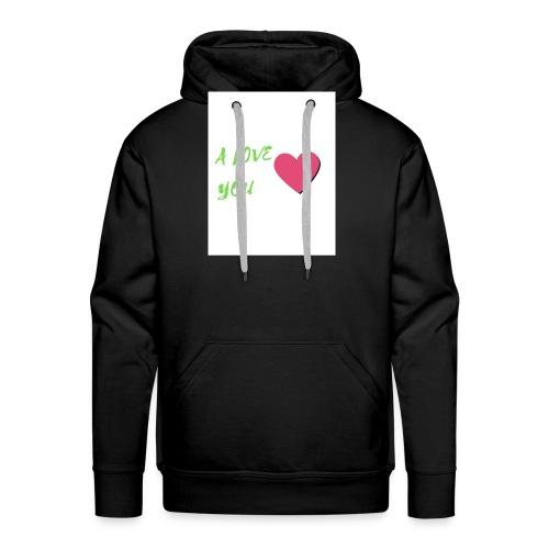 A LOVE YOU VERT - Sweat-shirt à capuche Premium pour hommes