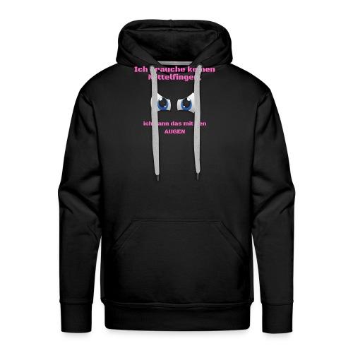 Ich brauche keinen Mittelfinger rosa - Männer Premium Hoodie