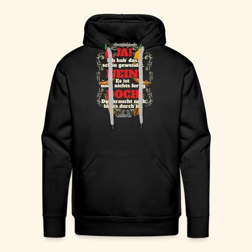 Grill T Shirt | witziger Spruch | Geschenkidee - Männer Premium Hoodie