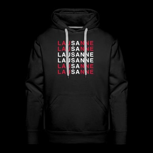lausanne - Sweat-shirt à capuche Premium pour hommes