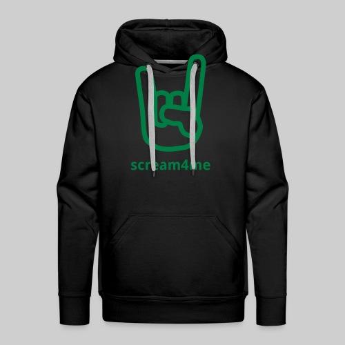 logo_text_green - Men's Premium Hoodie