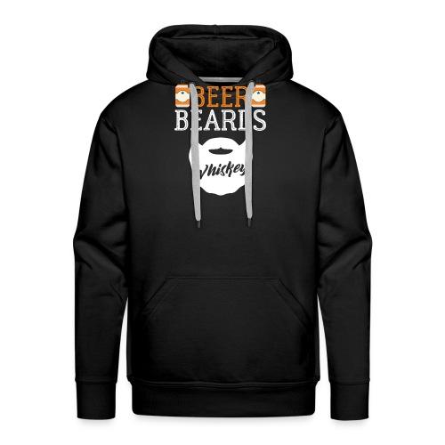 Beer Beards Whiskey - Männer Premium Hoodie