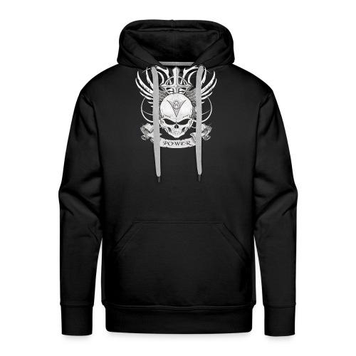 V8 Logo mit Skull im Tattoo Design - Männer Premium Hoodie