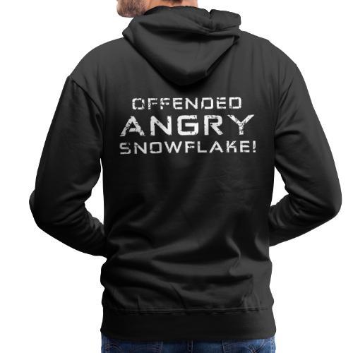 White Negant logo + OFFENDED ANGRY SNOWFLAKE! - Herre Premium hættetrøje