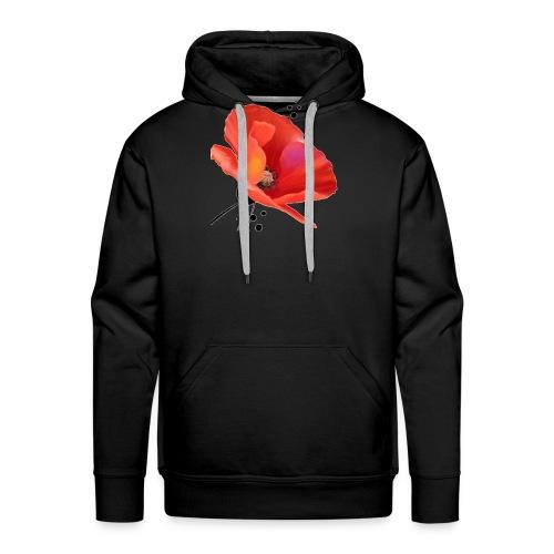 Coquelicot - Sweat-shirt à capuche Premium pour hommes