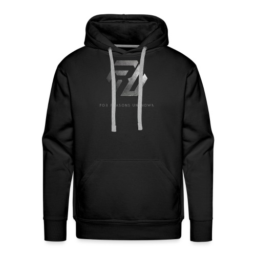 Metall-Logo über Schriftzug - Männer Premium Hoodie