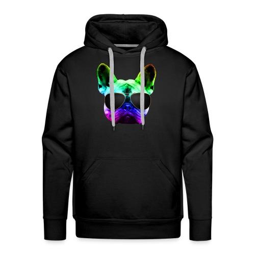 Rainbow Bouledogue Français - Sweat-shirt à capuche Premium pour hommes