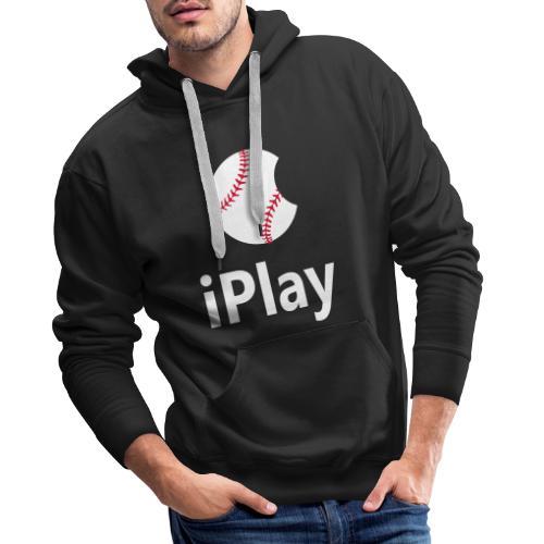 Baseball Logo iPlay - Men's Premium Hoodie