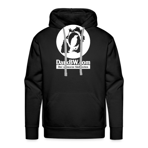 DarkBW Logo (einseitig bedruckt) - Männer Premium Hoodie