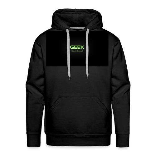 geek_binary_life_style - Sudadera con capucha premium para hombre
