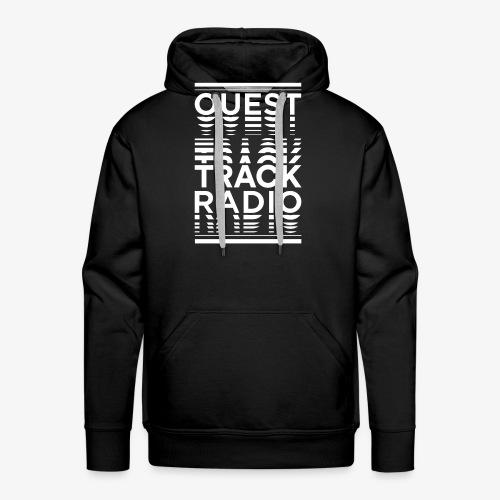 Logo Vertical Grand Blanc - Sweat-shirt à capuche Premium pour hommes